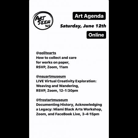 ArtSeen365 Sample Daily Art Agenda